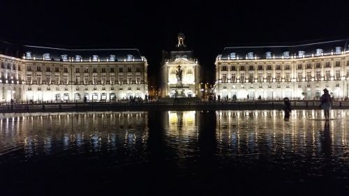 Place de la Bourse at night - Bordeaux, France
