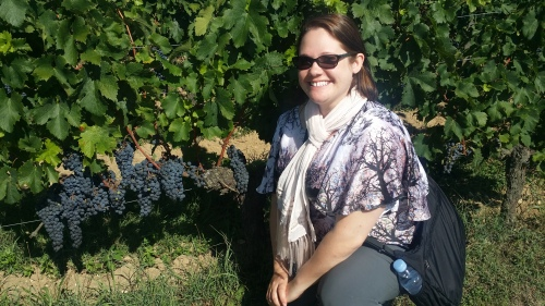 These harvest-ready grapes in Saint-Émilion, France wanted to pose with me in a photo, and of course, I obliged them.